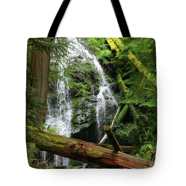 Cascade Falls - Orcas Island Tote Bag by Art Block Collections
