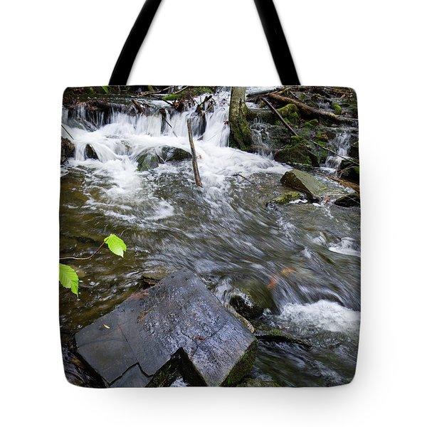 Cascade Falls Stream, Farmington, Maine  -30329 Tote Bag