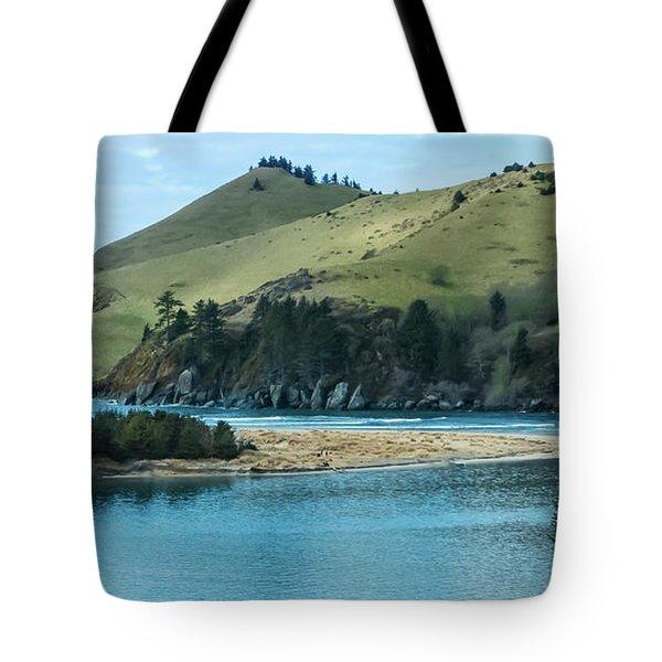 Cascade Head Panorama Tote Bag