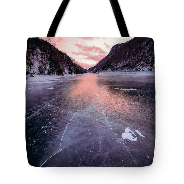 Cascade Ice Tote Bag