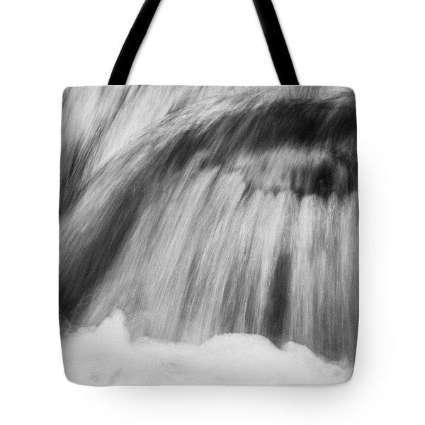Cascade In Monochrome Tote Bag