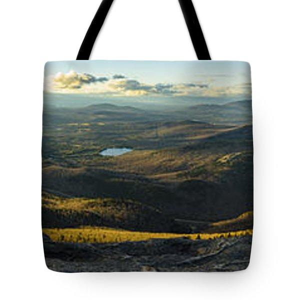Cascade Mountain Sunset Tote Bag