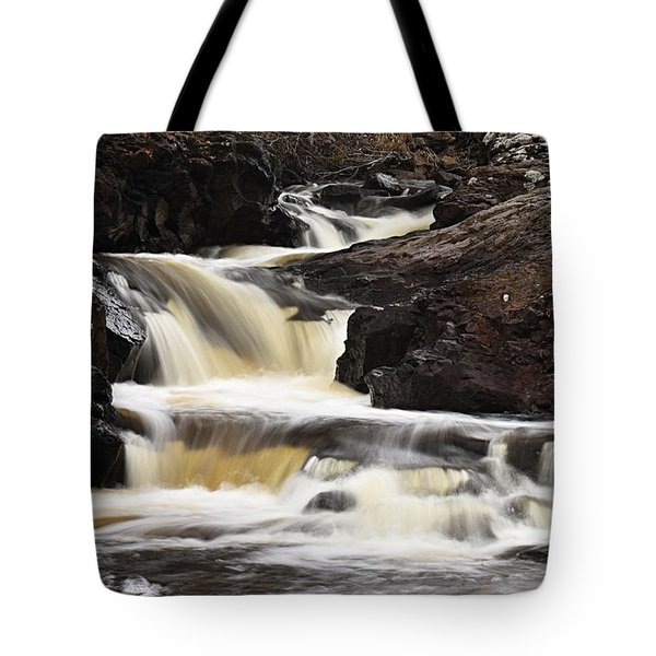 Tote Bag featuring the photograph Cascade On The Two Island River by Larry Ricker