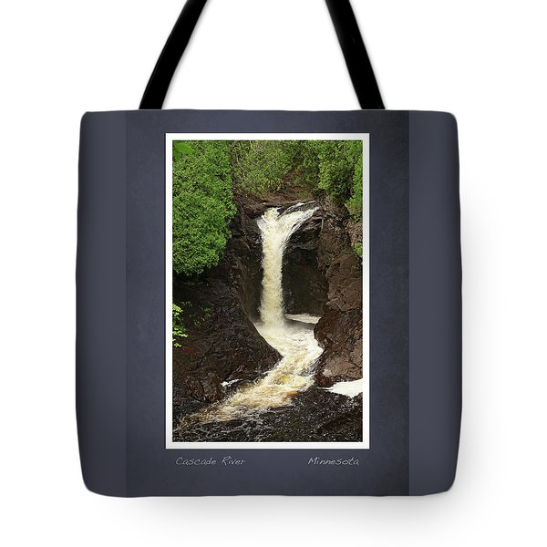 Tote Bag featuring the photograph Cascade River Scrapbook Page by Heidi Hermes