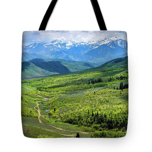 Cascade Spring Valley Tote Bag