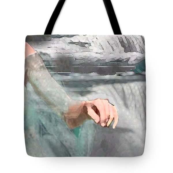Tote Bag featuring the digital art Cascade by Steve Karol