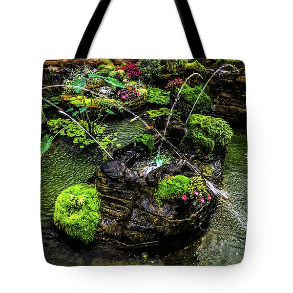 Tote Bag featuring the photograph Cascades Fountains by Onyonet  Photo Studios