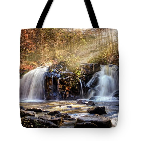 Tote Bag featuring the photograph Cascades Of Light by Debra and Dave Vanderlaan