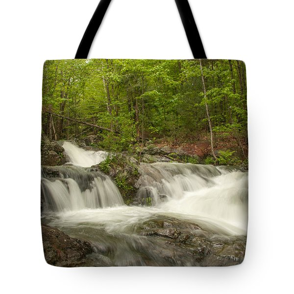 Cascades On The Brooks Falls Trail Tote Bag
