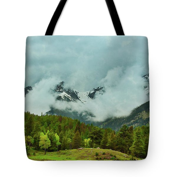 Cascading Storm Clouds Tote Bag