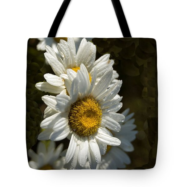 Tote Bag featuring the photograph Cascading Daisy by Elsa Marie Santoro