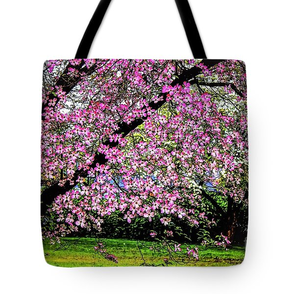 Cascading Dogwood Copyright Mary Lee Parker 17, Tote Bag