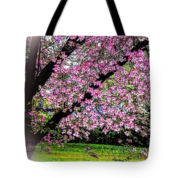 Cascading Dogwood Copyright Mary Lee Parker 17, Tote Bag by MaryLee Parker