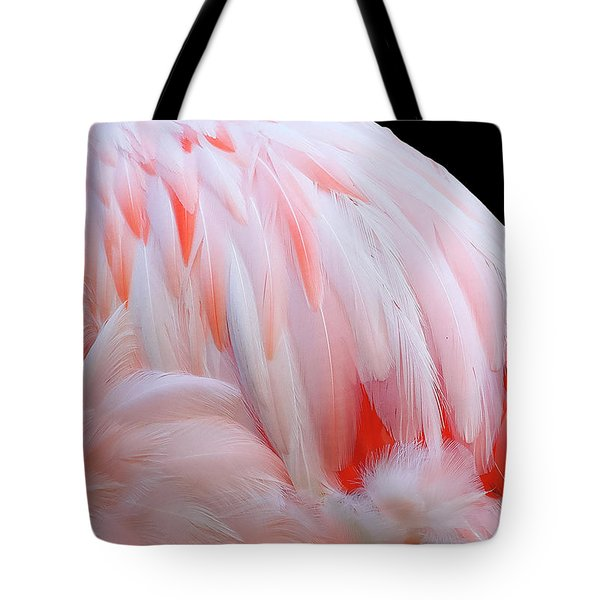 Tote Bag featuring the photograph Cascading Feathers by Elvira Butler