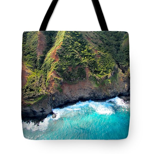 Cascading To The Sea Tote Bag by Brenda Pressnall
