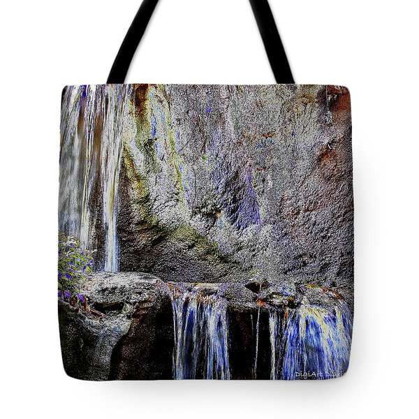 Cascading Water Solarized Tote Bag by DigiArt Diaries by Vicky B Fuller
