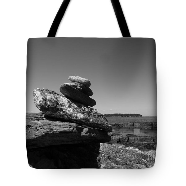 Casco Bay Cairn Bw Tote Bag
