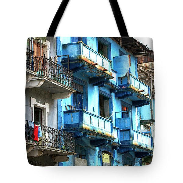 Tote Bag featuring the photograph Casco Viejo Blues by John Rizzuto