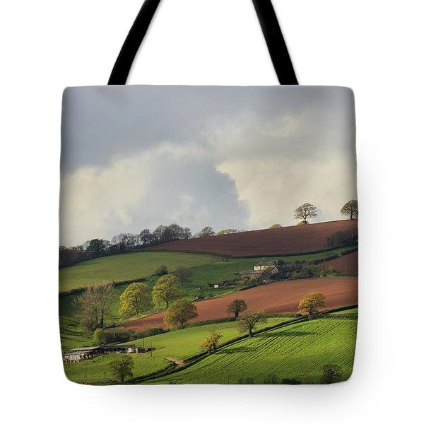 Caseberry Downs In Devon Tote Bag