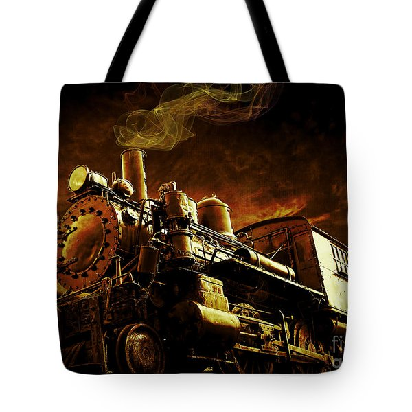 Casey Jones And The Cannonball Express Tote Bag by Edward Fielding