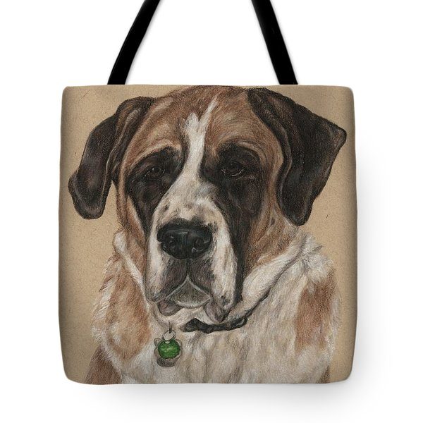 Tote Bag featuring the drawing Casey  by Meagan  Visser