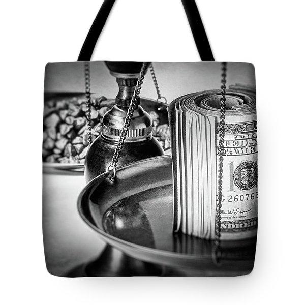 Cash Versus Gold Tote Bag
