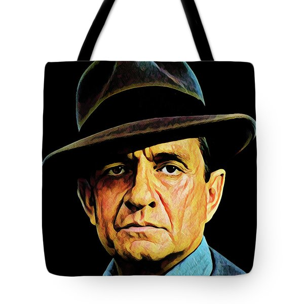 Cash With Hat Tote Bag