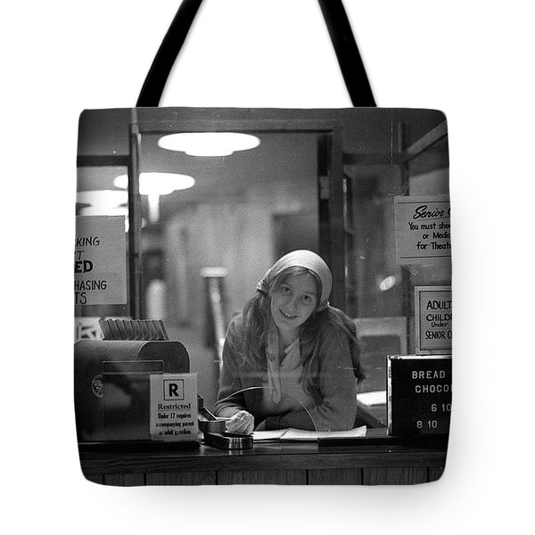 Cashier, Devon Theatre, 1979 Tote Bag