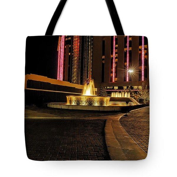 Casino Christmas Tote Bag by Nancy Marie Ricketts