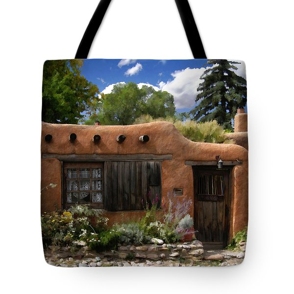 Casita De Santa Fe Tote Bag by Kurt Van Wagner