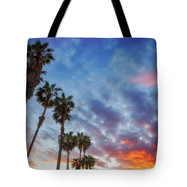 Tote Bag featuring the photograph Casitas Palms by John A Rodriguez