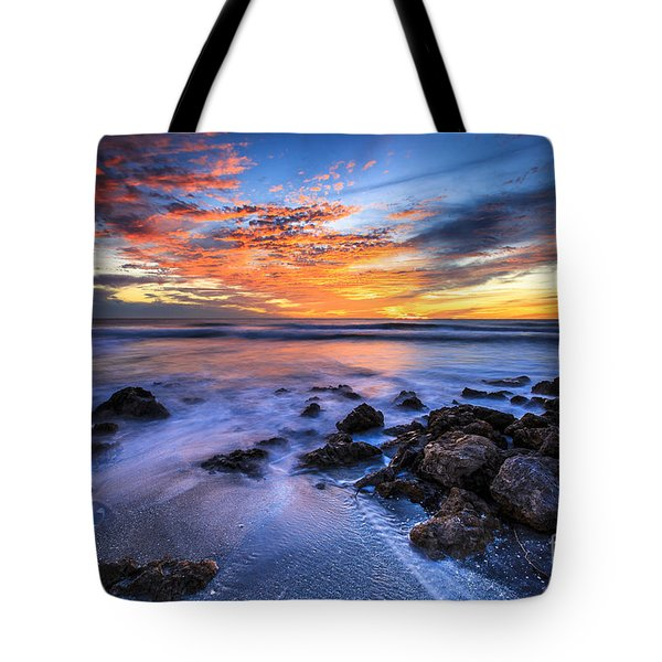 Casperson Beach Sunset 3 Tote Bag