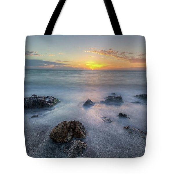 Tote Bag featuring the photograph Casperson Beach Sunset by Paul Schultz