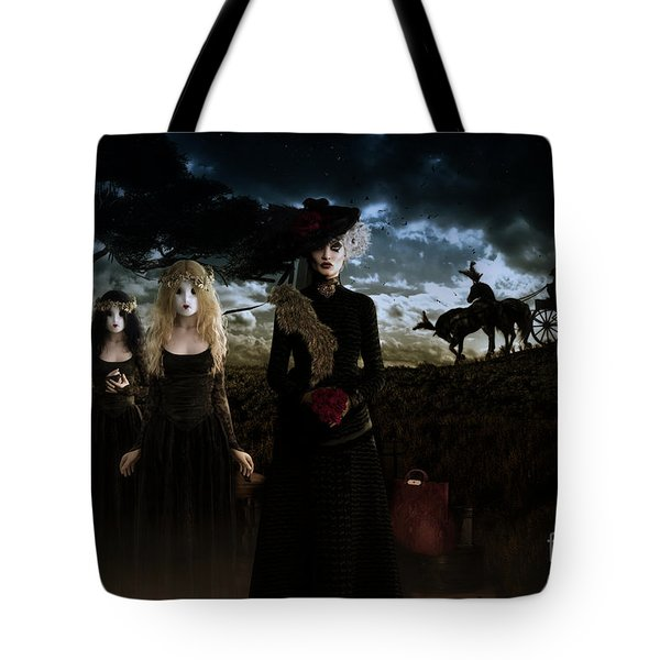 Tote Bag featuring the digital art Casquette Brides Arrival by Shanina Conway