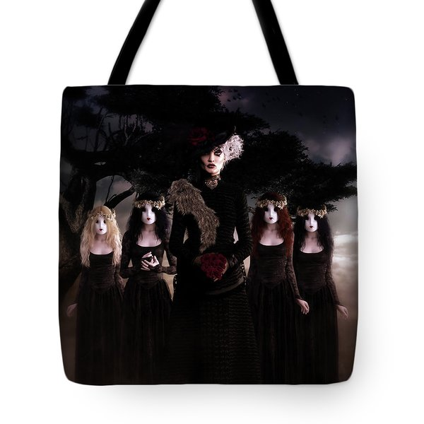 Tote Bag featuring the digital art Casquette Brides by Shanina Conway