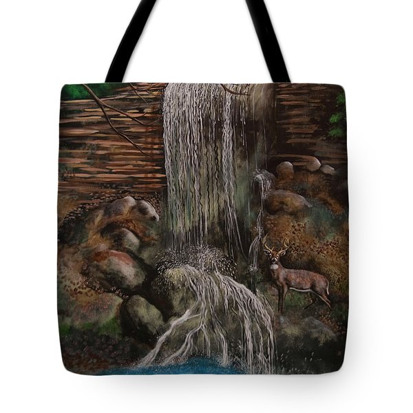 Casscading Waterfall Tote Bag