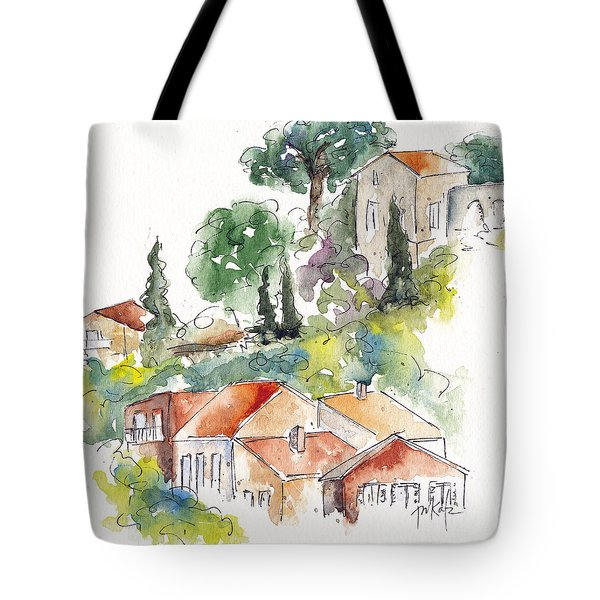 Cassis Hillside Tote Bag