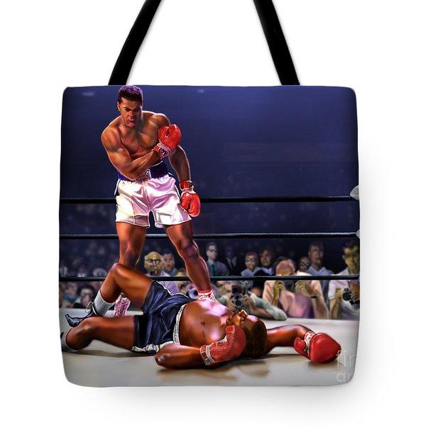 Cassius Clay Vs Sonny Liston Tote Bag
