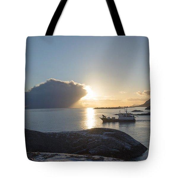 Cast A Giant Shadow... Reine Lofoten Tote Bag