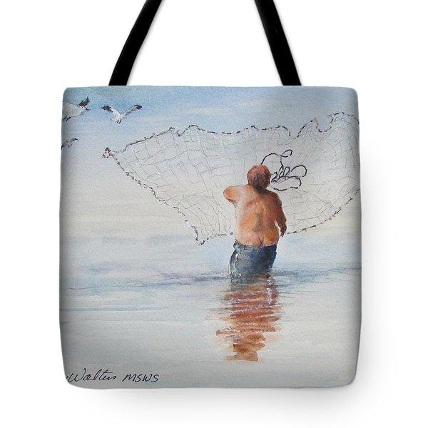 Cast Net Fishing Tote Bag