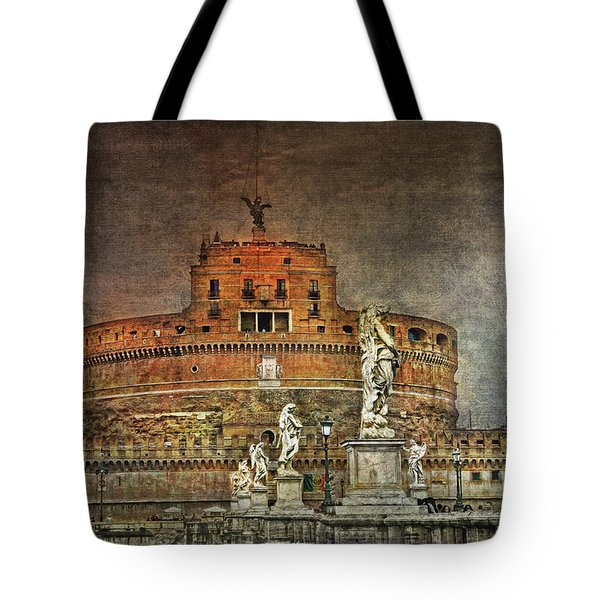 Tote Bag featuring the photograph Castel Sant Angelo Fine Art by Hanny Heim