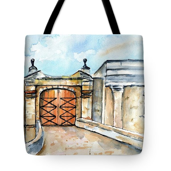 Castillo De San Cristobal Entry Gate Tote Bag
