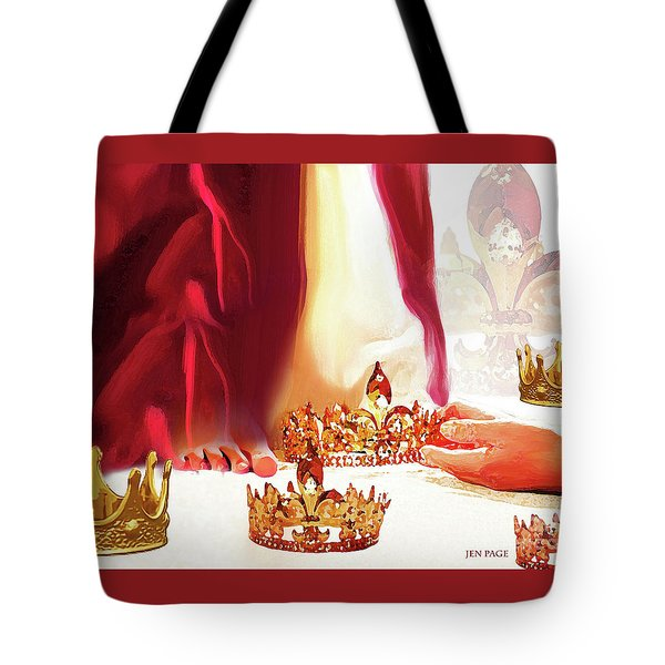 Tote Bag featuring the mixed media Casting Crowns by Jennifer Page
