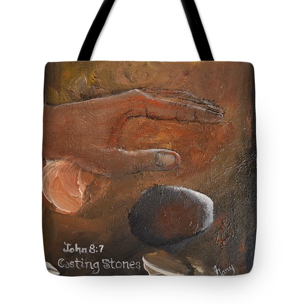Casting Stones Tote Bag by Gary Smith