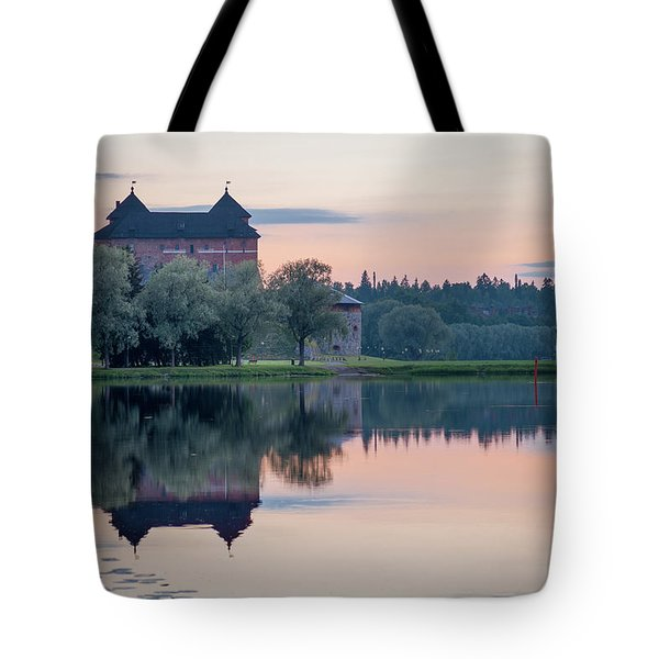 Castle After The Sunset Tote Bag by Teemu Tretjakov