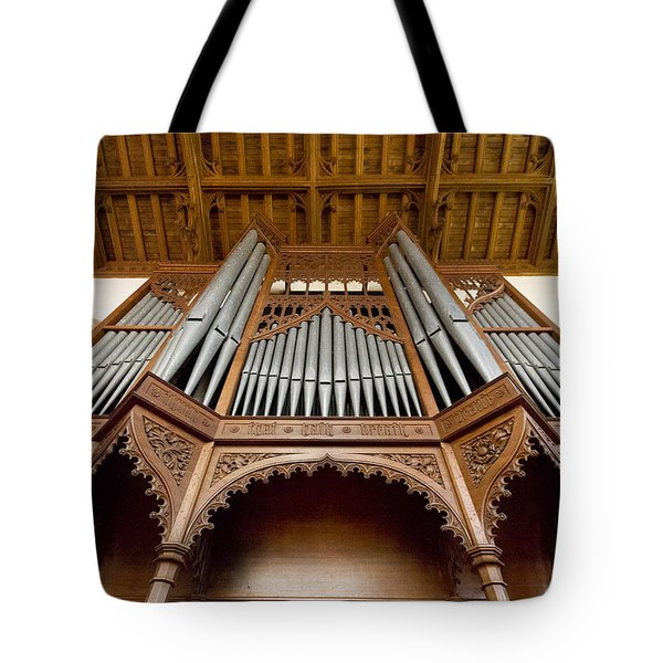 Castle Ashby Pipe Organ Tote Bag