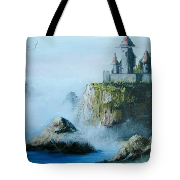 Castle At Dragon Point Tote Bag