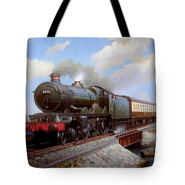 Castle At Starcross Tote Bag by Mike  Jeffries