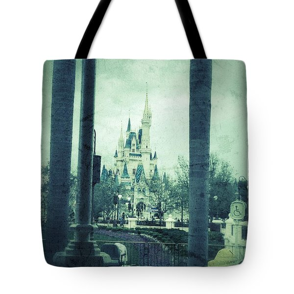 Castle Between The Palms Tote Bag