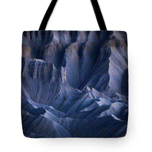 Castle Blue Tote Bag by Dustin LeFevre